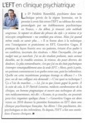 L'EFT en clinique psychiatrique - Dr Frédéric Rosenfeld